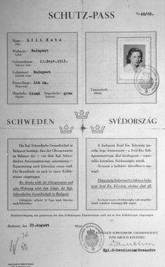 A letter of protection (Schutzpass), issued by the Swedish legation in Budapest, to the Hungarian Jew Lili Katz. The document bears the init...