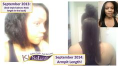 Length Check: 1 yr post haircut. My handmade hair growth product set is all I need to retain length for my natural hair. Click to see reviews and more pics