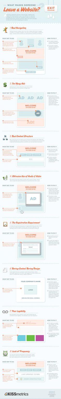 8 Website Design No-Nos! - by Bootcamp Media ( #Infographic #WebDesign #WebsiteDesign )