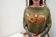 fawn poncho 5 by tiny_owl_knits, via Flickr