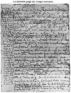 The last page of Marcel Proust's manuscript ofLe Temps retrouvé