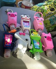 Bath and body works hand sanitizer and animal covers! So fun!!