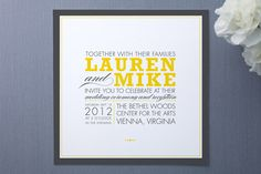 Invitation idea from Minted