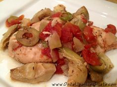 Healthy & Delicious Crock Pot Chicken with Artichokes and Tomato