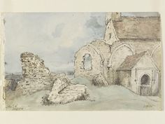 The Old Parish Church at Hove, John Constable, 1828