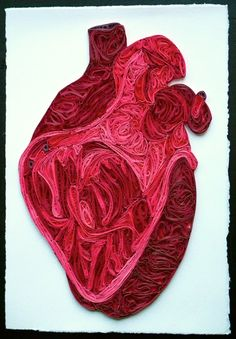 """Quilled Anatomical Heart"" by Sarah Yakawonis"