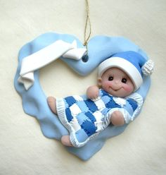 babies first christmas, polym clay, polymer clay, christmas ornaments, christma ornament