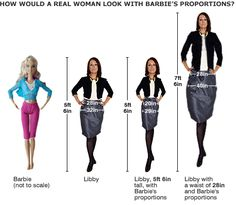 Barbie and real woman