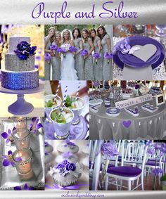 Purple and Silver Wedding Colors - Read more at http://blog.exclusivelyweddings.com/2013/01/30/purple-wedding-color-combination-options/