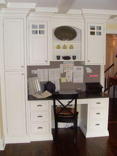 kitchen desks, office designs, home office design, built in kitchen desk, desk design, display shelves, kitchen ideas, kitchen remodel, home offices