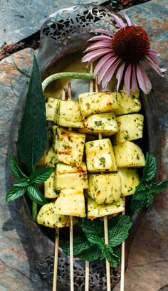 Grilled Pineapple with Jalapeño Basil Sugar | Earthy Feast