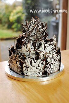 Marble Chocolate Cake tutorial