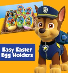 These printable PAW Patrol egg holders make decorating eggs fun and easy for preschoolers!