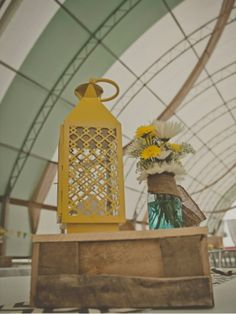 candle lanterns for centerpieces // View more: http://ruffledblog.com/community/recycle-your-wedding-browse/reception/lanterns-11170.html idea, receptions, weddings, reception centerpieces, lanterns, flower