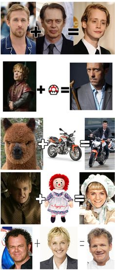 Freakishly accurate celebrity equations - Imgur