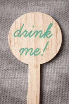 """drink me"" stirrer"
