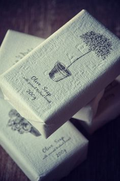 Pretty packaging for soap.
