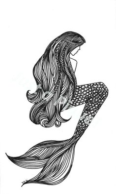 I really like this. Starting to compile ideas for my mermaid side tattoo. I dont want a face so this is perfect!