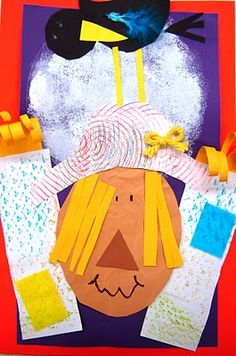 scarecrow texture collage fall art, art project, art lessons, scarecrow, textur collag