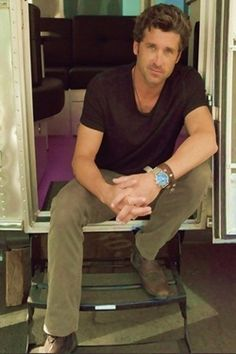 patrick dempsey on the greys set with his airstream | Tumblr