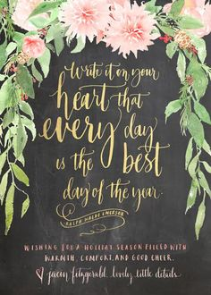 Lovely Little Details holiday card custom designed by Julie Song Ink