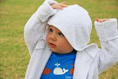 sew: make a kids' bathrobe from two towels || things for boys