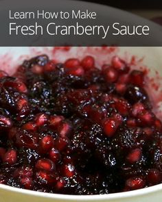 Cranberry sauce is one of the most important Thanksgiving side dishes, so don't phone it in! Try this simple recipe with a seasonal twist.