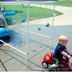 Homemade PVC Pipe Car Wash