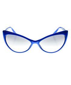 Violet Shiny Cat-Eye Sunglasses   Tom Ford