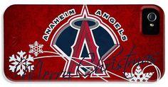 Baseballs Iphone Cases - Los Angeles Angels iPhone Case by Joe Hamilton