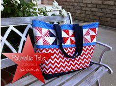 Patriotic Tote Bag Tutorial