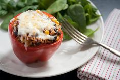 Mexican-Style Vegetarian Stuffed Peppers - Crumb: A Food Blog