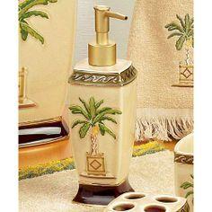 palm tree bathroom decor on pinterest 30 pins. Black Bedroom Furniture Sets. Home Design Ideas
