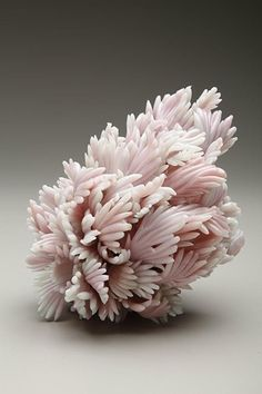 // Amber Cowan's recycled glass sculpture.