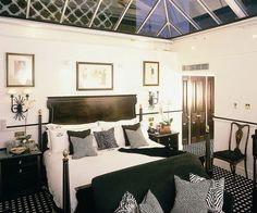 The Conservatory Master Suite at Hotel 41 is decorated with exquisite details including an opulent marble bathroom, lavish mahogany paneling and a glass ceiling that allows guests to sleep under the stars in London's top-rated luxury boutique hotel http://www.41hotel.com/ (TripAdvisor No. #1 at time of writing). The service in this discreet sanctuary is top-notch too and it is near Buckingham Palace. http://londonhotelsinsight.com/2012/01/12/free-wifi-touchdown-hotel-41/ #London #hotels