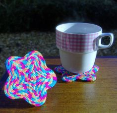 Lucet braided coasters.