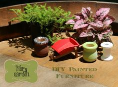 DIY Painted Fairy Garden Furniture