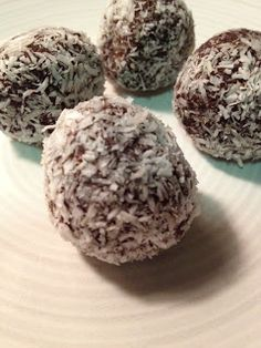 Raw Chocolate Coconut balls from The earth diet
