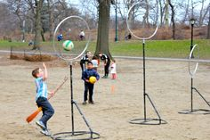 Quidditch/kidditch in Central Park.