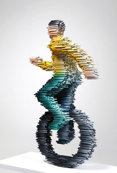 Motion Blurred Pipe Sculptures by Kang Duck-Bong