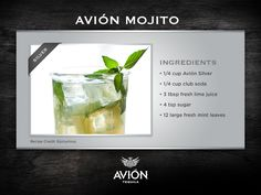 Can't wait for #mojito season? Neither can #tequila. ( #tequilaavion, #cocktail, #recipe, #recipes, #cocktails, #drinks, #drink, #mixology, #bartending )