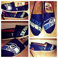 Seattle Seahawks Toms by FrancesBowtique on Etsy, $100.00