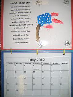 Handprint Calendar:  July poem (9)