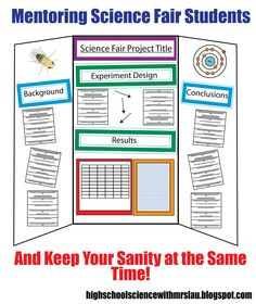 Mentoring Science Fair Students and Keep Your Sanity at the Same Time!   A blog post with science fair mentoring tips: High School Science With Mrs. Lau