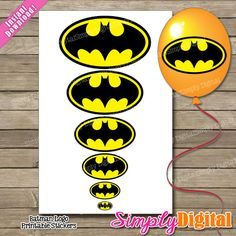 favor bags, idea, favors, batman birthday, parties, batman parti, sticker, balloons, lollipops