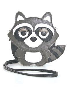 """Raccoon"" Cross Body Bag (Grey) #InkedShop #raccoon #bag #purse #crossbody #style #fashion #accessories"