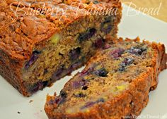 Blueberry Banana Bread | MomOnTimeout.com Totally scrumptious and oh-so moist!  #breakfast #bread #blueberry