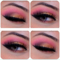 candy hot pink gold