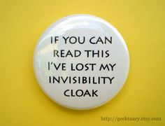 """""""I"""" is for Invisibility Cloak  #literacymonth @halfpricebooks"""