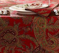 Caroline Paisley Tablecloth #potterybarn